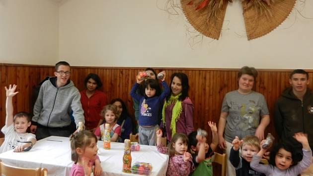 Děti z Dětského domova v Ledcích