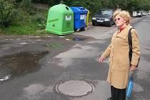 Ladislava Tobiášová z Herbenovy ulice v Kladně poukazuje na problematickou louži v sídlišti už šest roků. Do redakce Kladenského deníku volá i několikrát za měsíc.