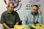 Zdeněk Muller a Jiří Kalous na tiskové konferenci