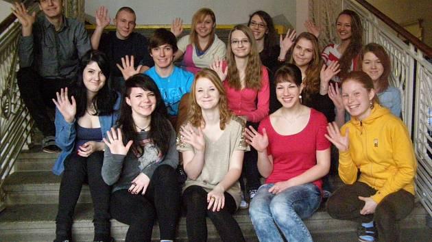 Studenti kladenského gymnázia.