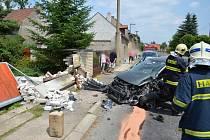 Nehoda Peugeotu v Horním Bezděkově