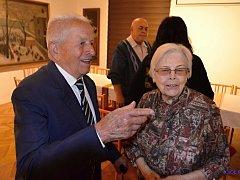evadesátiny válečného veterána, italského partyzára, Marina Cavicchioliho a 95. narozeniny Matyldy Klapalové.