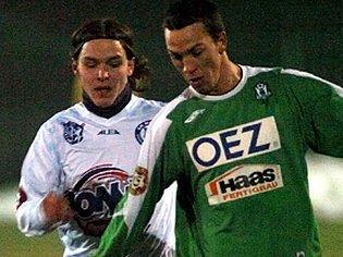 Antonín Holub (vlevo) byl nejlepším střelcem Kladna ve skupině C Tipsport ligy.