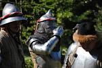 Milovníci středověku si dali dostaveníčko ve tvrzi ve Velké Dobré.