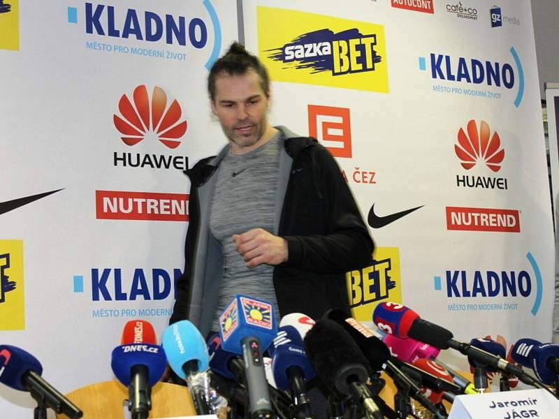 Jaromír Jágr, tisková konference Kladno, 1. února 2018