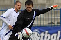 Jaroslav Tesař inkasoval ve Znojmě smolný první gól.