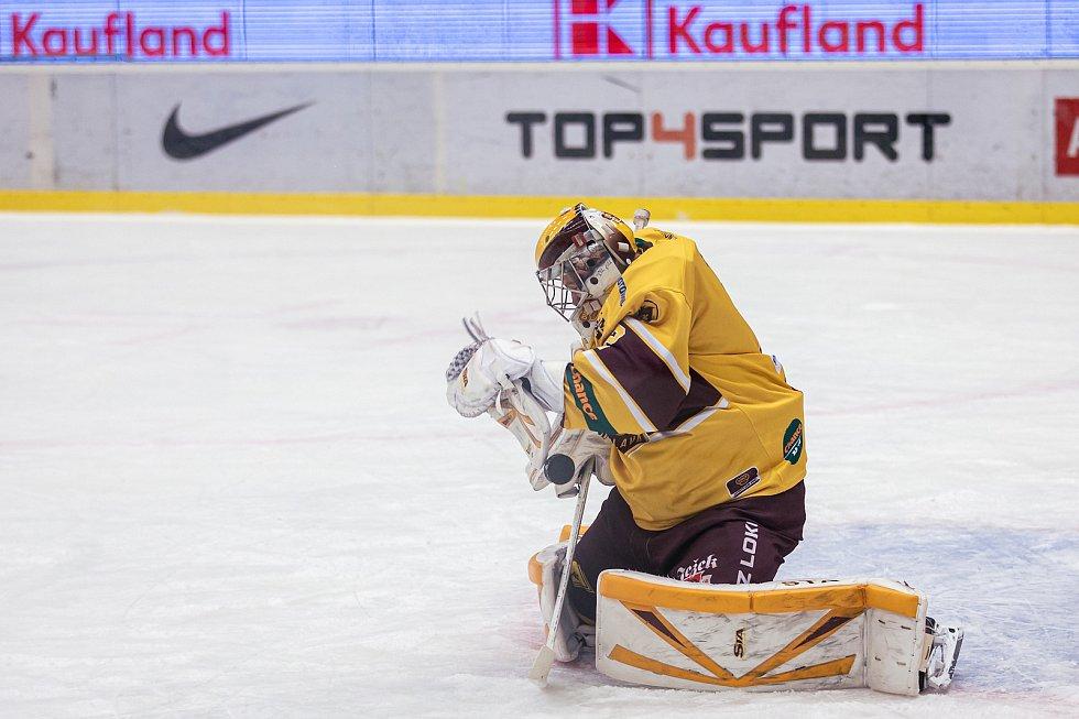 Šlágr hokejové Chance ligy Kladno - Jihlava okořenil návrat Jaromíra Jágra na led. Brankář Jan Brož