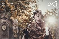 Plakát představení Rozvedný duch.