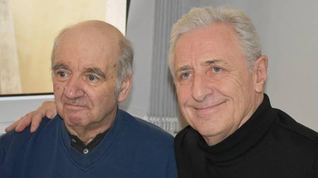 Pan Jaroslav si setkání s Karlem a Hanou Heřmánkovými náležitě užil.