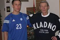 Radek Šikola s dědou Zdeňkem Landou.