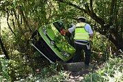 Dopravní nehoda se stala na silnici mezi Smečnem a Svinařovem.