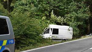 Tragická nehoda na silnici I/16 před odbočkou na Drnek.