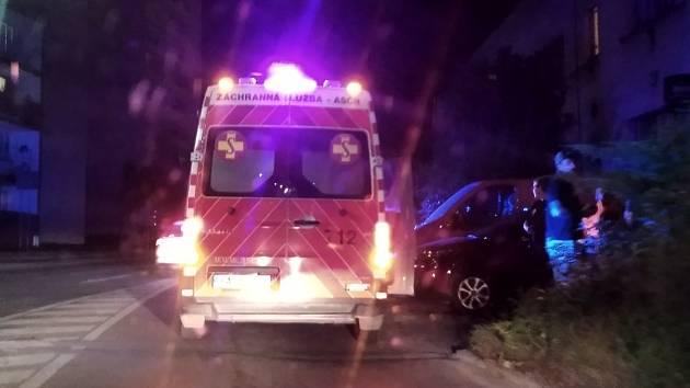 Nehoda chodce v Šultysově ulici ve Slaném.