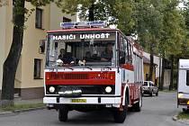 Požár v ulici Jar. Merhauta v Kladně.