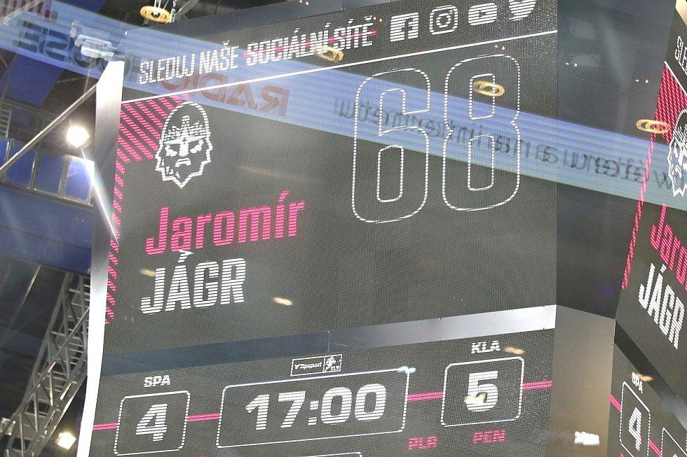 Jaromír Jágr při návratu do extraligy zářil v O2 areně proti Spartě