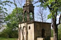 Boží hrob ve Slaném ještě před dokončením rekonstrukce