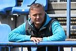 Tomáš Abrhám, trenér mládeže SK býval dlouholetým hráčem a oporou NOVO Kladno // SK Kladno - Baník Souš 4:1 //Divize B 2013-14 // 19.4.2014
