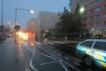 Nehoda se stala ve Vodárenské ulici v Kladně-Kročehlavech.