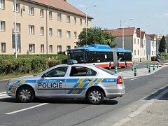 Nehoda v ulici J. Kociána v Kladně.