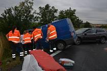 Dopravní nehoda tří vozidel ve čtvrtek ráno u Lotouše