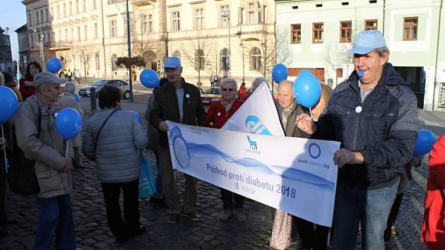 Pochod proti diabetu prošel Kladnem.