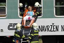 Velké taktické cvičení hasičů, záchranářů a policie se uskutečnilo ve čtvrtek 26. května.