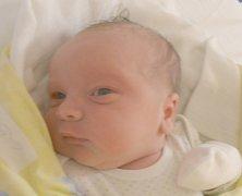 Jakub Jaroš, Slaný. Narodil se 12. dubna 2016. Váha 3,8 kg, míra 52 cm. Rodiče jsou Jitka Hatašová a Tomáš Jaroš (porodnice Slaný).