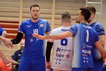 Finále Final Four Českého poháru ve volejbalu v Kutné Hoře. Utkání Kladno - České Budějovice.