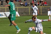 Karviná - Kladno 0:2, vpravo kapitán Kladna Jan Procházka