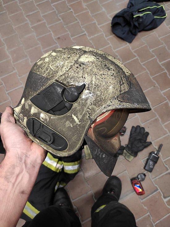 Z požáru v mateřské škole v Kladně.