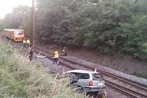 VÁŽNÁ NEHODA ZASTAVILA včera provoz na trati Praha – N.S. – Rakovník.