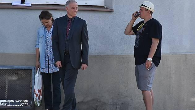 Natáčení nového televizního seriálu ve Slaném.