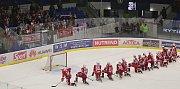 Slávisté si odpykávají před fanoušky prohru // Rytíři Kladno – HC Slavia Praha 7:2, WSM liga LH, 4. 1. 2018