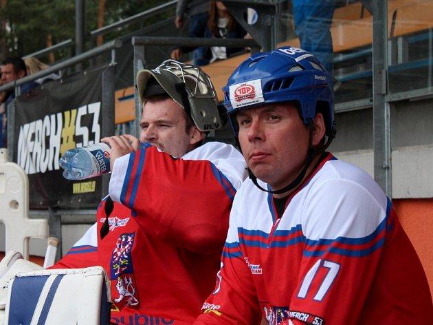 Slavnostní otevření zrekonstruované hokejbalové arény Kladno. Jan Jirotka sDan Hnízdil