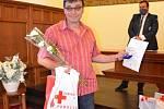 Z oceňování dárců Zlatým křížem v Kladně.
