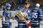 Alpiq Kladno – Kert Praha 0:2  , Kladno 18. 5. 2019, finále Extraligy hokejbalu 2018-9 , Kert vyhrál i třetí zápas a slaví titul.