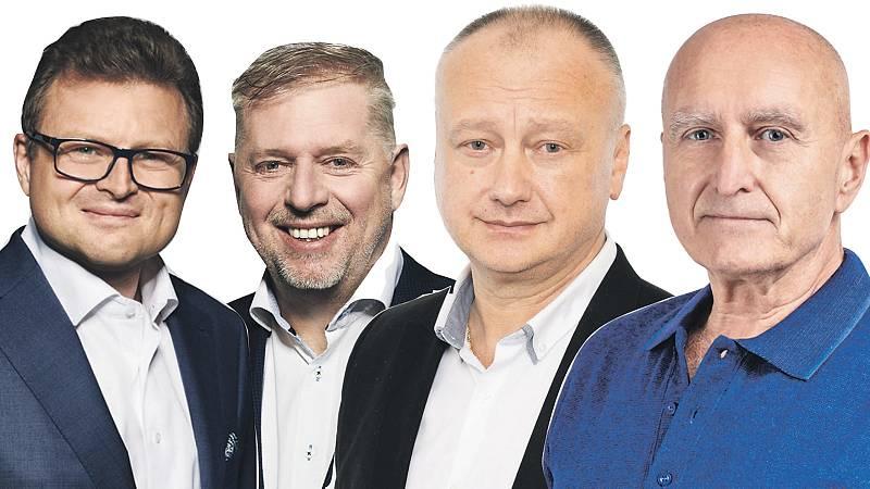 Poslanci z Kladenska (zleva): Vojtěch Munzar (ODS), Pavel Bendl (ODS), Oldřich Černý (SPD), Stanislav Berkovec (ANO).