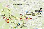 Mapa závodu středočeské Tour de France