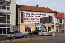 Petice Volby pro Kladno je podpořena velkoplošnými billboardy.