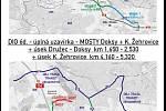 II/606 Velká Dobrá - Nové Strašecí, rekonstrukce silnice a mostů.