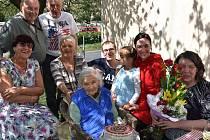 Marie Capová ze Slaného slaví 100. narozeniny.