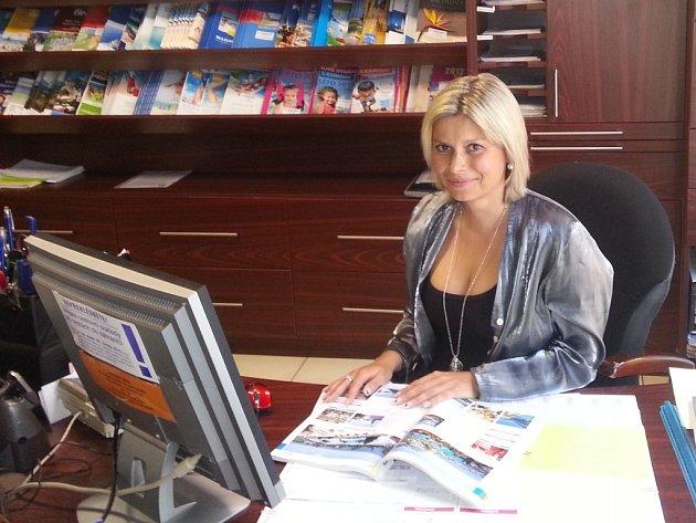 MICHAELA UKSOVÁ z kladenské cestovky má stále klientům co nabízet.