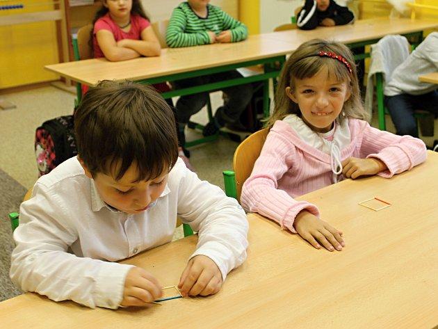 Prvňáci ze zlonické školy.