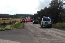 Ve Velkém Přítočně bourala tři auta, zraněno bylo pět osob.