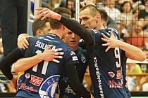 Kladno volejbal cz - Karlovarsko 2:3, finále Extraliga volejbalu (stav 0:1), Kladno, 18. 4. 2018