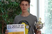 RYCHLOBRUSLAŘ ALEŠ CEPLECHA, mistr České republiky na dráze 2012 v kategorii kadetů.