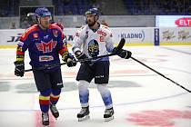 Hokejisté Kladna (v bílém) nestačili ve druhém zápase Generali Česká Cupu na České Budějovice.