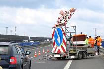 Nehoda se stala na kladenském úseku dálnice D6.