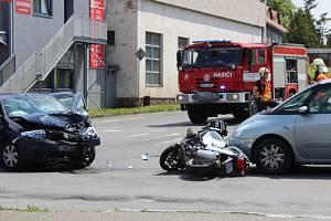 Nehoda se stala na křižovatce ulic Dukelských hrdinů a Slánská.