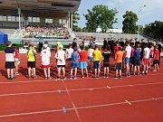 Na děti čekalo celkem deset soutěžních disciplín, například jízda zručnosti na kole či slalom v neprůstřelné vestě.